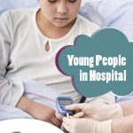 Young people in hospital leaflet cover