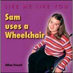 Sam uses a Wheelchair cover