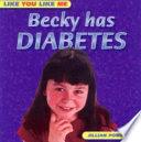 Becky has Diabetes cover